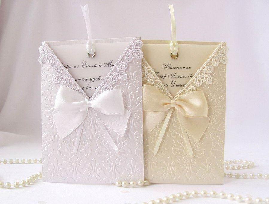Красивые свадебные приглашения своими руками